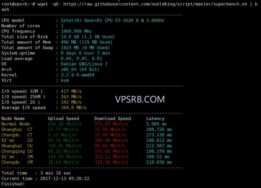 #一键脚本# SuperBench.sh 测试 Linux 服务器的参数和网络,国内节点版