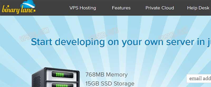 Binarylane 澳大利亚,KVM/768M/15G SSD/250G 流量/月付 3 美元