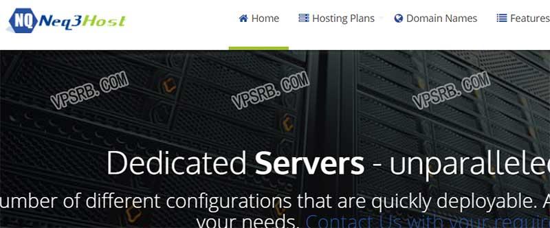 NEQ3host 纽约,KVM/512M 内存/100Mbps/1T 流量/年付 8.5 美元