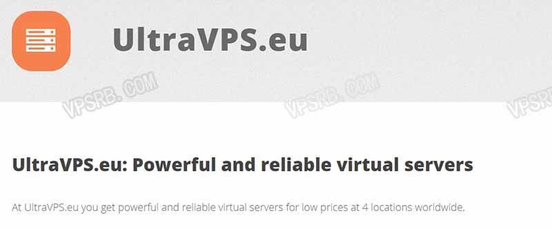 UltraVPS 五机房可选,KVM/2G/2 核/50G SSD/1T 流量/1Gbps/年付 40 欧元